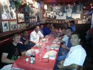 USMST bonds at the team dinner